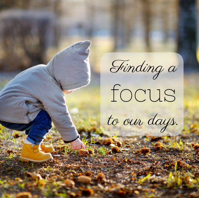 How we found a focus to our days at home and created a peaceful rhythm and routine. #homeschool #preschool #parenting #routines