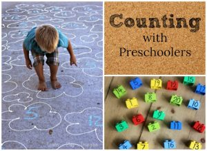 Counting activities for kids! These are the best and simplest counting activities for preschoolers - great for teaching kids their numbers. #numbers #counting #preschool #parenting