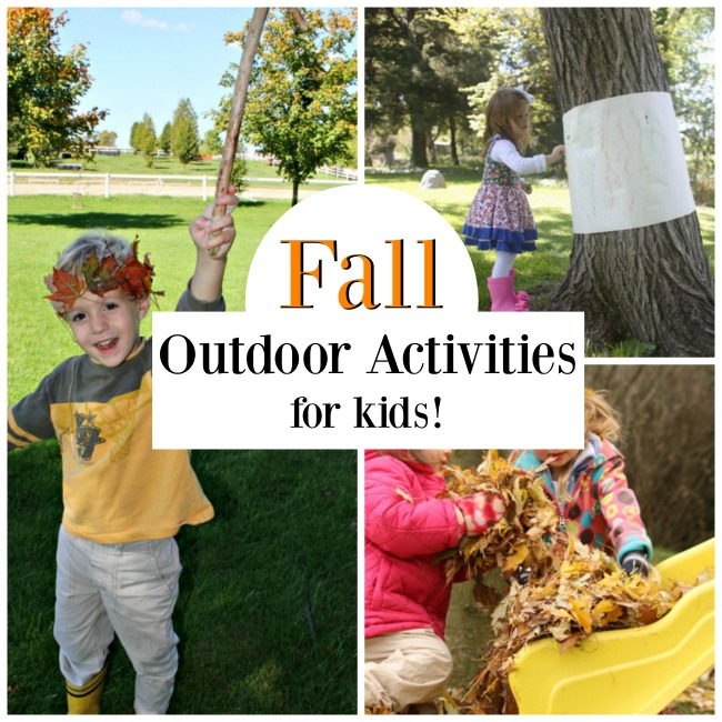 Easy outdoor activities for toddlers and preschoolers this Fall! #autumn #fall #outdoors #childhoodunplugged #playoutside