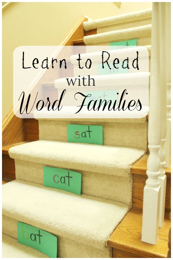 A fun way to use word families to learn to read! #sponspred #alphabet #kindergarten #learntoread #homeschool #oakmeadow