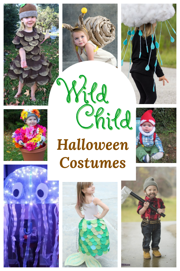 Adorable Homemade Halloween Costumes for the wild child! These are perfect for nature loving Mamas and little free spirits. #Halloween #Homemade #DIY #costumes #kids #preschool #childhood #nature #greenmama