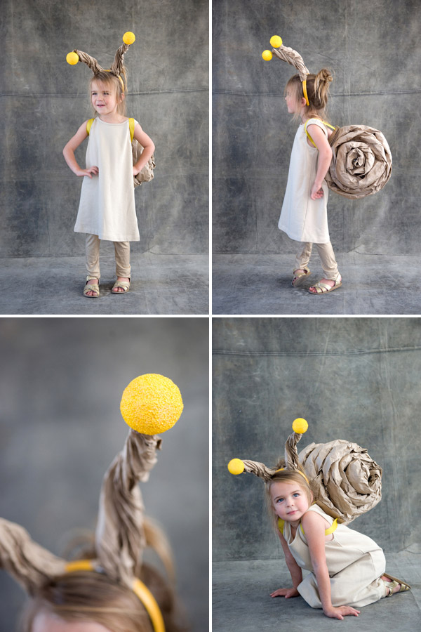 A snail halloween costume! So cute and easy to make too. Great tutorial