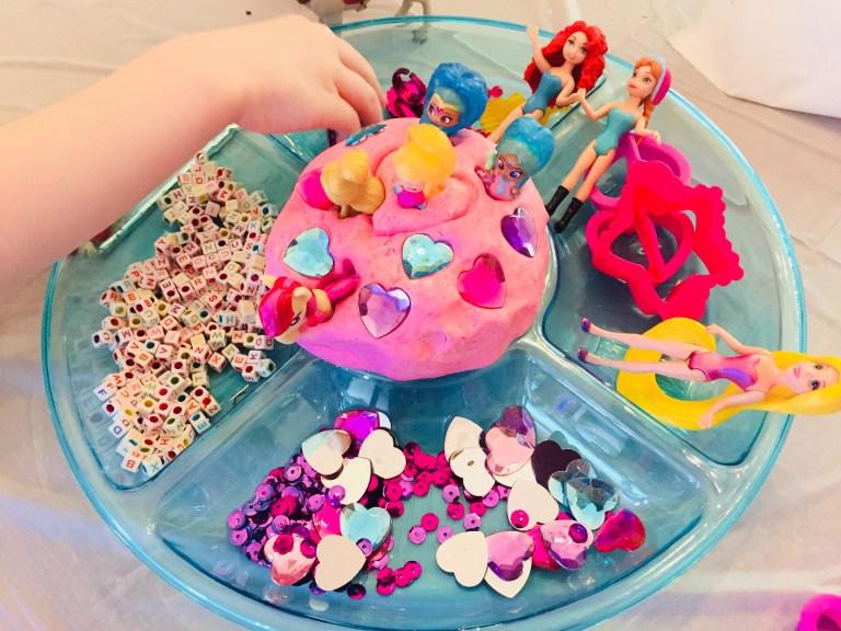 A fairy princess invitation to get creative with playdough!