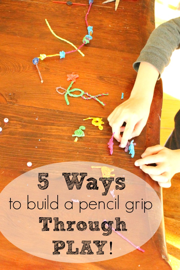 Simple ideas to strengthen and build a pencil grip through PLAY! #playmatters #preschool #sponsored #wikkistix