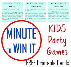 SPECTACULAR Minute to Win It Kids Party Games!