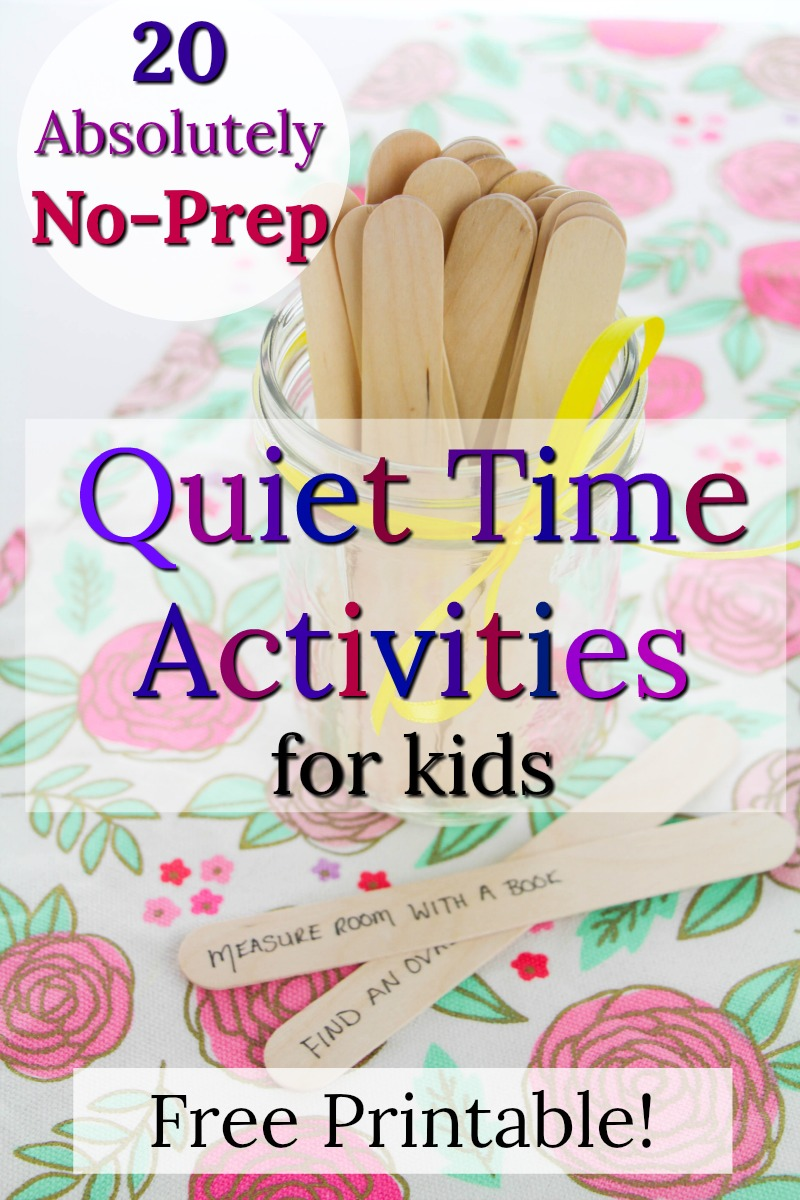 No-prep, no mess quiet time activities for kids! These quiet moments are great for when you need 10 minutes! #quiettime #quietgames #busybags #preschoolactivities #toddleractivities #kidsactivities #howweelearn
