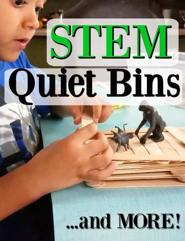 LOADS of quiet time activities for kids. The STEM ones are so simple to set up and kids learn so much! #HowWeeLearn #quiettime #busybags #preschooleractivities #quietplay #playideas #momtips #preschoolathome #homeschooling