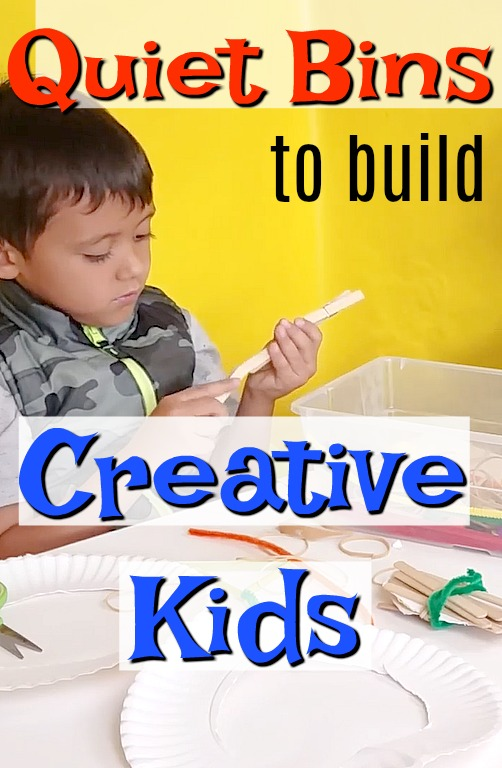 Creative quiet time boxes!! These are great independent preschool activities. Full of learning too - build creativity, imagination, and academic skills too! #HowWeeLearn #quiettime #busybags #finemotorskills #creativitiy #playideas #imaginativeplay #preschoolactivities #kidsactivities #artsandcraftsforkids