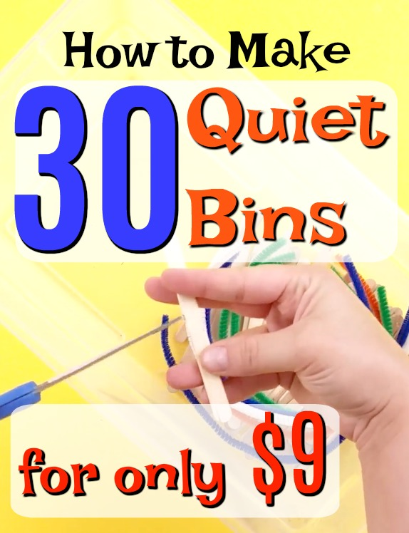 How to make 30 different quiet boxes for only $9! Theseare great quiet time activities and busy bags for preschoolers. Simple independent play! #howweelearn #preschoolactivities #finemotor #learningactivities #kidscrafts #craftsforkids