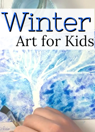 This is an easy and beautiful winter art project for kids. Love the crayon resist painting technique for little kids! #HowWeeLearndotcom #artsandcrafts #artsandcraftsforkids #Kidscrafts #craftsforkids #artprojectsforkids #kidsartproject