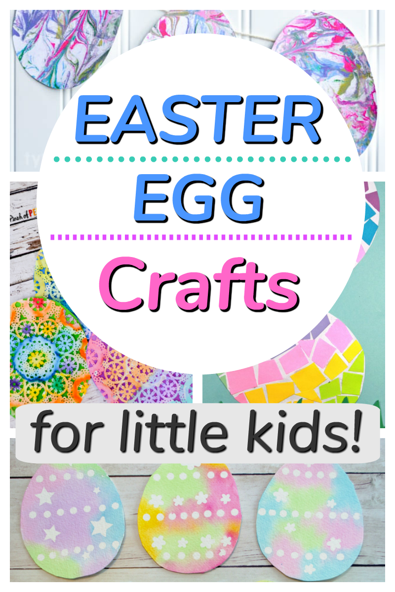 Easter egg crafts for kids to make! These paper crafts are great for spring and for toddlers and preschoolers. #howweelearn #eastercrafts #eastereggs #preschoolactivities #toddleractivities #preschoolcrafts #tpddlercrafts #artsandcrafts #artsandvraftsforkids #kidscrafts