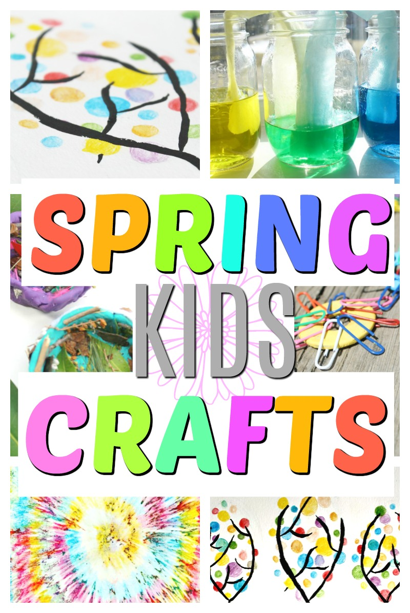 These are perfect crafts for spring! These colourful crafts for kids are simple and perfect for preschoolers and toddlers. #HowWeeLearn #craftsforkids #kidscrafts #artsandcraftsforkids #springcrafts #colorfulcrafts #color #colour #preschoolcrafts #toddlercrafts #processart