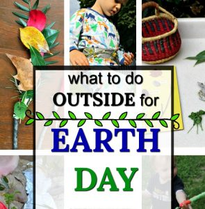 Awesome outdoor activities to celebrate Earth Day with kids! These Earth Day activities are great for outside exploring nature and are so easy! There is practically no set up - just grab the kids and go enjoy these fun outdoor activities for Earth Day! #HowWeeLearn #Earthday #getoutside #childhoodunplugged #EarthDayActivities #earthday2019 #forestschool #preschoolactivities #natureactivities #funinthesun #kidsactivities