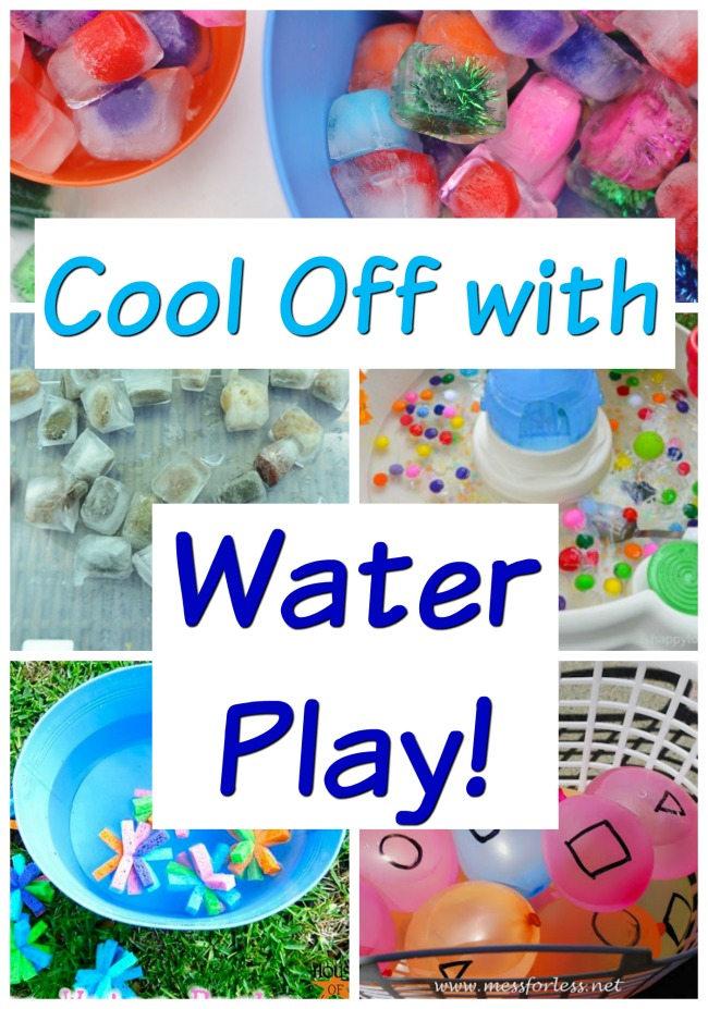 Super easy, but very creative, water play activities for kids! These summer fun activitiesare great for cooling off in the sprinkler, water table, little kiddie pools - whatever you have on hand. #howweelearn #summertime #summerfun #kidsactivities #preschoolactivities#outdoorplay #sprinkler #water #play #toddlerplay #toddleractivities