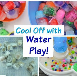 Super easy, but very creative, water play activities for kids! These summer fun activitiesare great for cooling off in the sprinkler, water table, little kiddie pools - whatever you have on hand. #howweelearn #summertime #summerfun #kidsactivities #preschoolactivities#outdoorplay #sprinkler #water #play #toddlerplay #toddleractivitiesh