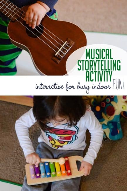 Add this brilliant musical activity to your kid's favorite story. It keeps your toddlers and preschoolers busy while helping with fine and gross motor skills. #howweelearn #grossmotor #creativeplay # music #activeplay #preschooleractivities #toddleractivities