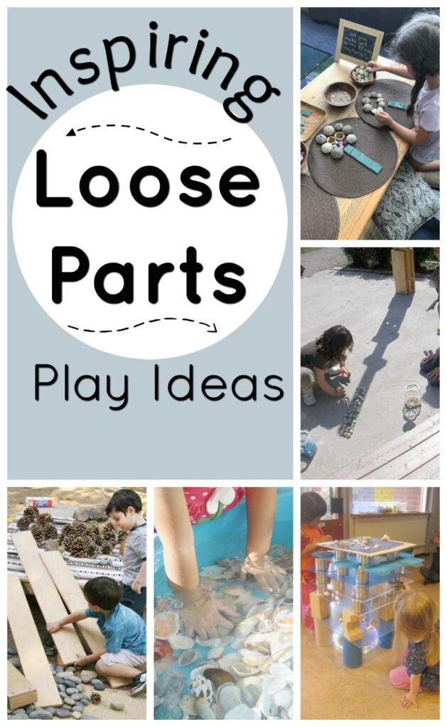 Inspiring ways to spice up your use of loose parts with kids! These loose parts play ideas are so easy and such simple additions to your loose parts centre. Perfect simple activities for preschoolers and toddlers. #Howweelearn #looseparts #playideas #preschoolactivities #kidsactivities #finemotor #sensoryplay #reggio