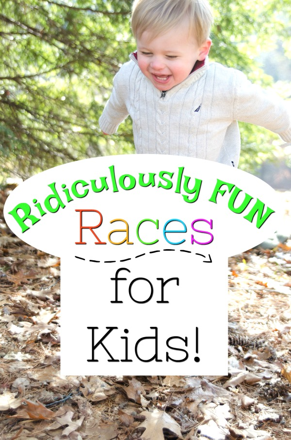 Ridiculously fun race ideas for kids! Get hose preschoolers moving with these fun and easy races great for indoor and outdoor play. #howweelearn #races #grossmotor #activegames #activeplay #preschooleractivities