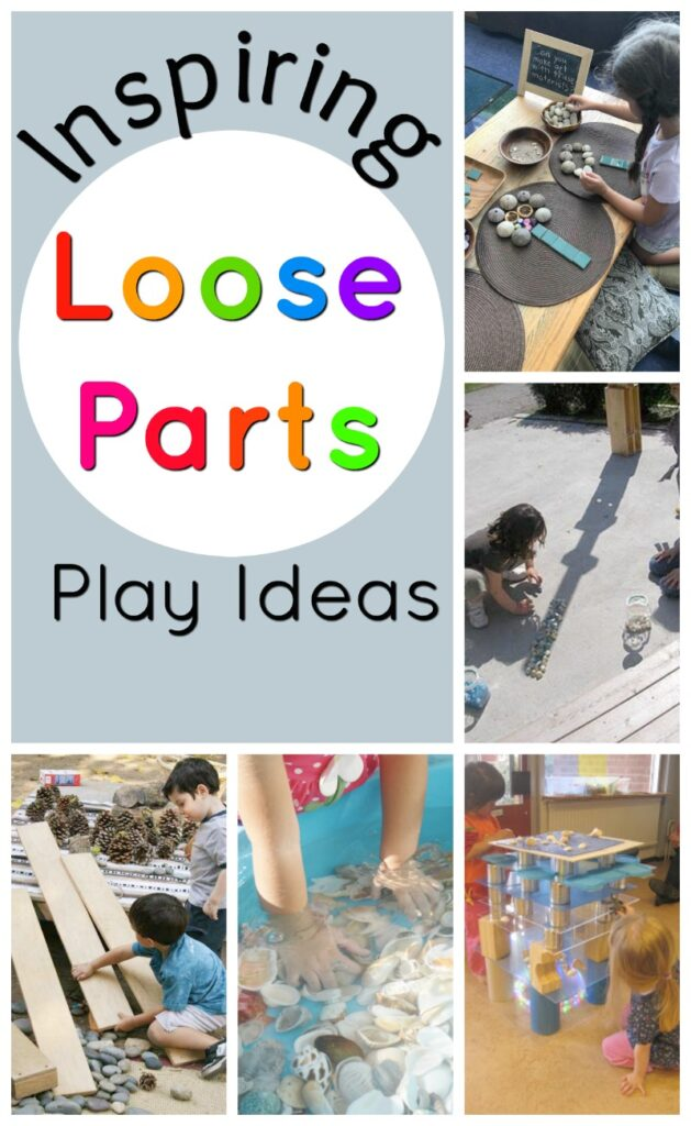 Quiet Time Ideas for Kids - loose part play is an easy low prep qay to encourage creative, independent play with preschoolers and young kids. We can show you how. #howweelearn #quiettime #independentplay #preschoolactivities #preschoollearning