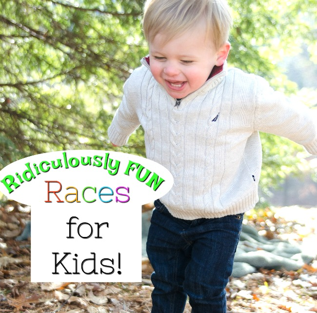 Ridiculously fun race ideas for kids! Get those preschoolers moving with these fun and easy races great for indoor and outdoor play. #howweelearn #races #grossmotor #activegames #activeplay #preschooleractivities