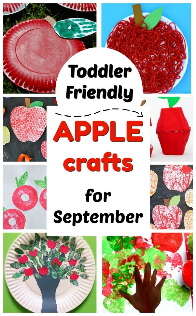 Toddler friendly APPLE Crafts for Fall! These adorable apple crafts are perfect for toddlers and preschoolers. So nice and easy! Perfect for the start of the school year. #howweelearn #craftsforkids #backtoschool #toddlercrafts #Fallcrafts
