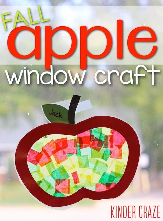 Let the fall colors flood through your home with this cute fall apple window craft. Here you will find cute and simple apple crafts for kids, toddlers and preschoolers. #applecraft #fallcrafts #fallcraftsforkids #autumncrafts #preschoolcrafts #howweelearn