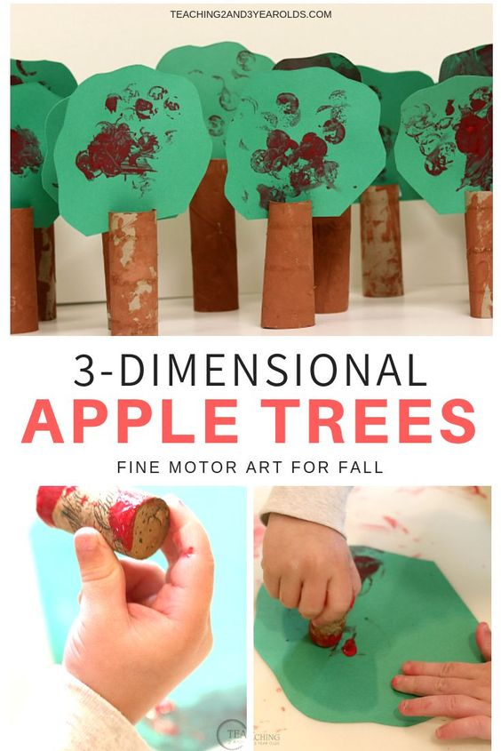 Creating 3D crafts is a rich learning experience for toddlers. Make these simple apple trees with materials found at home. Here you will find cute and simple apple crafts for kids, toddlers and preschoolers. #applecraft #fallcrafts #fallcraftsforkids #autumncrafts #preschoolcrafts #howweelearn