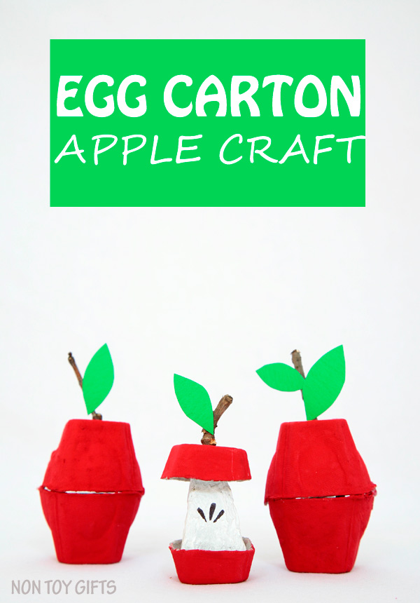 Who knew an egg carton could turn into an apple? Show your child how with this fun apple craft for fall. Here you will find cute and simple apple crafts for kids, toddlers and preschoolers. #applecraft #fallcrafts #fallcraftsforkids #autumncrafts #preschoolcrafts #howweelearn