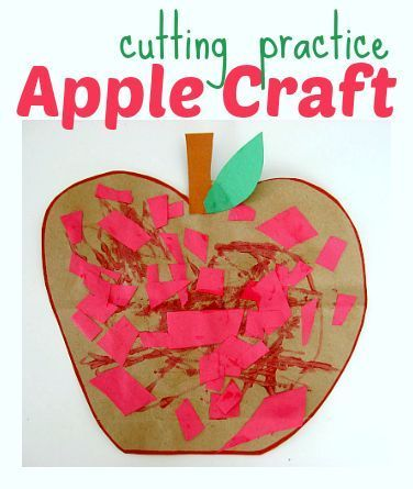 This is a simple craft your preschoolers can create with little guidance while getting in some scissor practice. Here you will find cute and simple apple crafts for kids, toddlers and preschoolers. #applecraft #fallcrafts #fallcraftsforkids #autumncrafts #preschoolcrafts #howweelearn