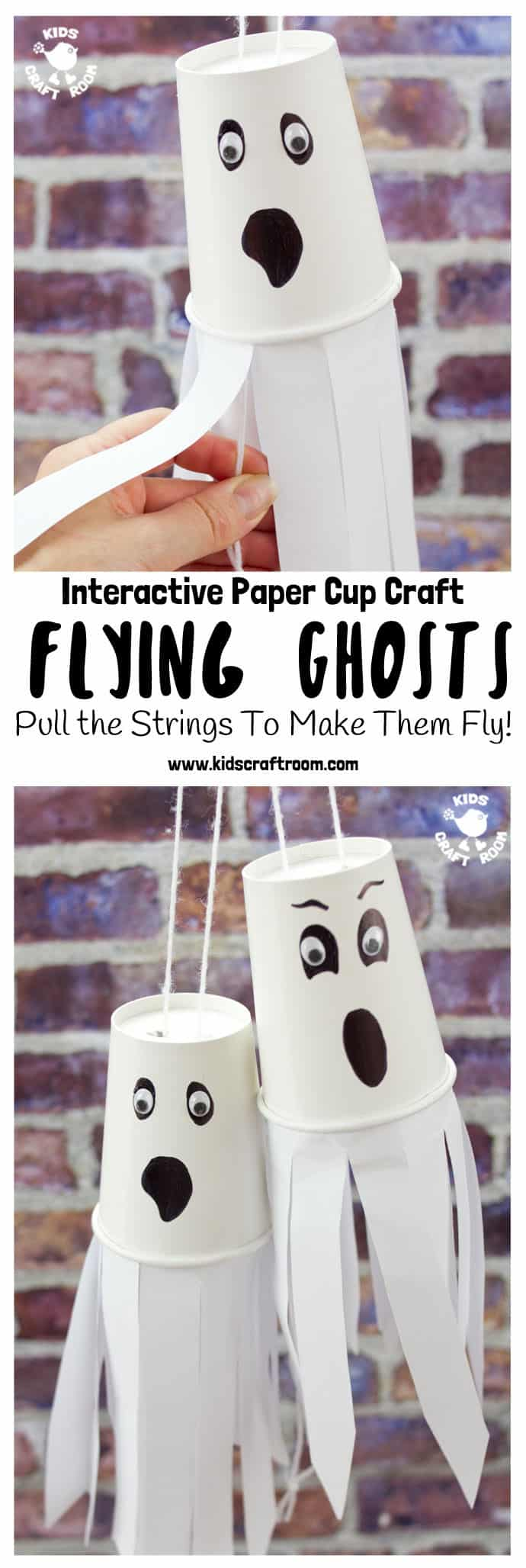 A Halloween ghost that really flys? Believe it, my little ghouls! It's simple to make and fun to play with! Here you'll find a variety of easy Halloween crafts for your kids, toddlers and preschoolers. #Howweelearn #Halloweencrafts #Craftsforkids