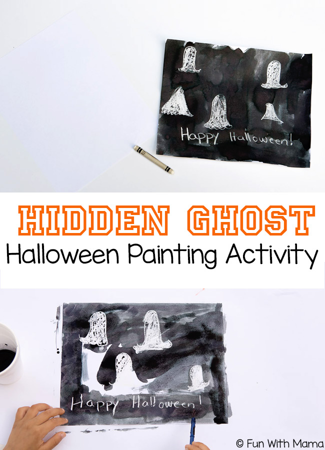 Add a little magic to your Halloween crafts with this Hidden Ghost Painting Activity. Here you'll find a variety of easy Halloween crafts for your kids, toddlers and preschoolers. #Howweelearn #Halloweencrafts #Craftsforkids