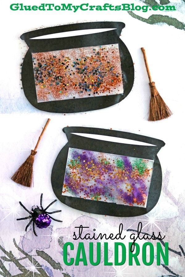 Glitter is only the beginning of this fun, magical witch cauldron craft! Here you'll find a variety of easy Halloween crafts for your kids, toddlers and preschoolers. #Howweelearn #Halloweencrafts #Craftsforkids