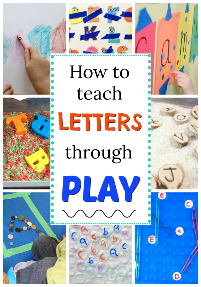 How to teach the letters and sounds through play! Fun hands on alphabet activities for preschoolers. #howweelearn #alphabetactivities #abc #letters #alphabet #learningactivities #preschoolactivities