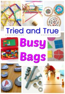The absolute best Busy Bags for kids! Over 40 independent activities perfect for toddlers, preschoolers, and big kids too! #howweelearn #busybags #kidsactivities #quiettime