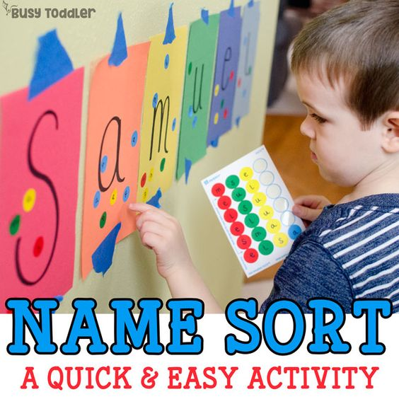 This letter learning game is quick and easy to set-up. Help you child recognize the letters in their name with ease. Keep learning fresh and exciting with this awesome collection of letter activities for preschool! #howweelearn #abc #alphabet #alphabetactivities #letters #lettersounds #preschool
