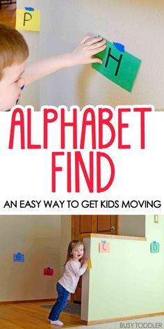 This large-scale alphabet find will keep your preschoolers minds and bodies moving for a long time! Keep learning fresh and exciting with this awesome collection of letter activities for preschool! #howweelearn #abc #alphabet #alphabetactivities #letters #lettersounds #preschool