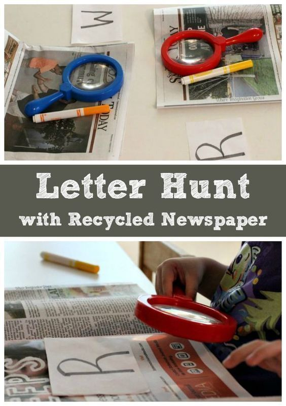 Invite your preschooler on a letter hunt in big people texts. Letter learning activities truly don't get any easier than this! Keep learning fresh and exciting with this awesome collection of letter activities for preschool! #howweelearn #abc #alphabet #alphabetactivities #letters #lettersounds #preschool