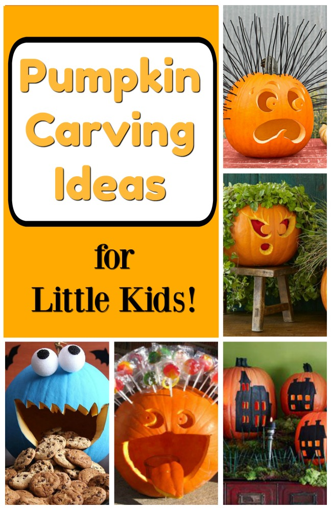 Such easy pumpkin carving ideas that are unique and adorable! Perfect carve ideas for little kids to try - great for beginners! #howweelearn #nocarve #pumpkin #pumpkincarving #halloween #jackolantern #diy #kidsactivities #kidscrafts