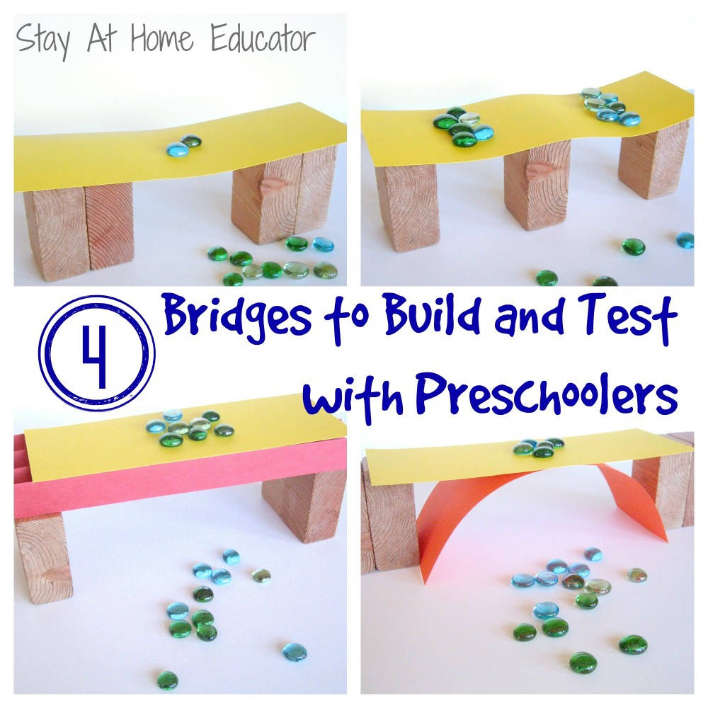 This experiment is a wonderful opportunity for preschoolers to explore weight and what qualities and materials make a structure strong. STEM and STEAM activities like this one are perfect for engaging children's natural curiosity. Here is a list of rich activities for toddlers, preschoolers and kids of all ages. #howweelearn #stem #steam #scienceforkids #learningactivities