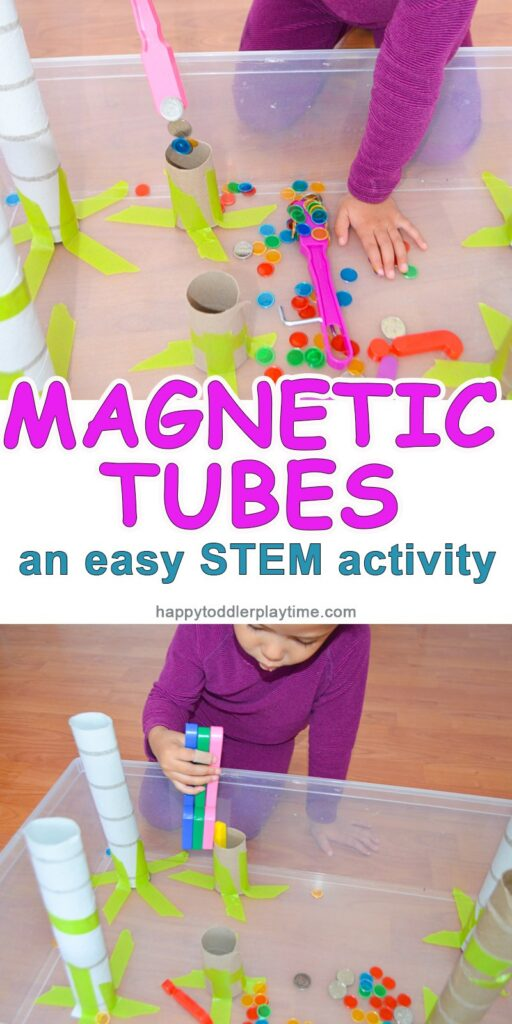 Explore the fascinating properties of magnets with these simple quiet bin. STEM and STEAM activities like this one are perfect for engaging children's natural curiosity. Here is a list of rich activities for toddlers, preschoolers and kids of all ages. #howweelearn #stem #steam #scienceforkids #learningactivities