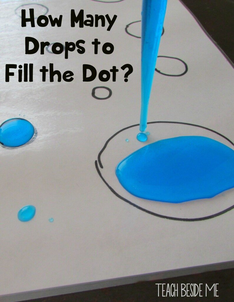 Challenge your child to work with the unique properties of water to fill a marked space. STEM and STEAM activities like this one are perfect for engaging children's natural curiosity. Here is a list of rich activities for toddlers, preschoolers and kids of all ages. #howweelearn #stem #steam #scienceforkids #learningactivities