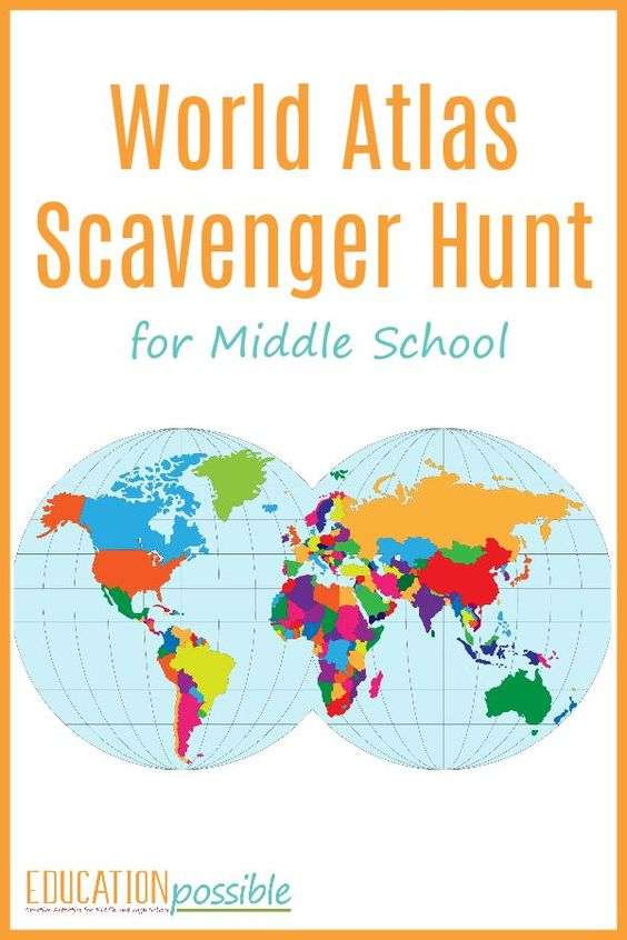 Help your child become more familiar with their atlas with an atlas scavenger hunt. We provide some ideas for adapting this to younger children. Not only are these activities thrilling, they keep kids active and encourage collaboration and problem solving.  Check out our massive list of ideas here! #howweelearn #scavengerhunt #kidsactivities #preschoolactivities