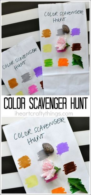 Have this simple scavenger hunt set-up in a flash! This one is great for toddlers, preschoolers and kids of all ages. Not only are these activities thrilling, they keep kids active and encourage collaboration and problem solving.  Check out our massive list of ideas here! #howweelearn #scavengerhunt #kidsactivities #preschoolactivities