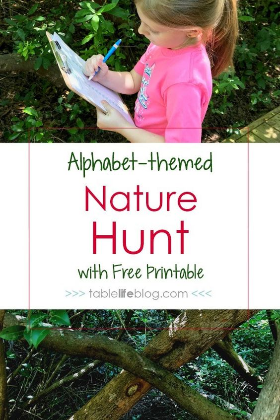 Challenge your children's creativity with this ABC nature scavenger hunt. Kids have to look around them to spot the formation of letters of the alphabet. Not only are these activities thrilling, they keep kids active and encourage collaboration and problem solving.  Check out our massive list of ideas here! #howweelearn #scavengerhunt #kidsactivities #preschoolactivities