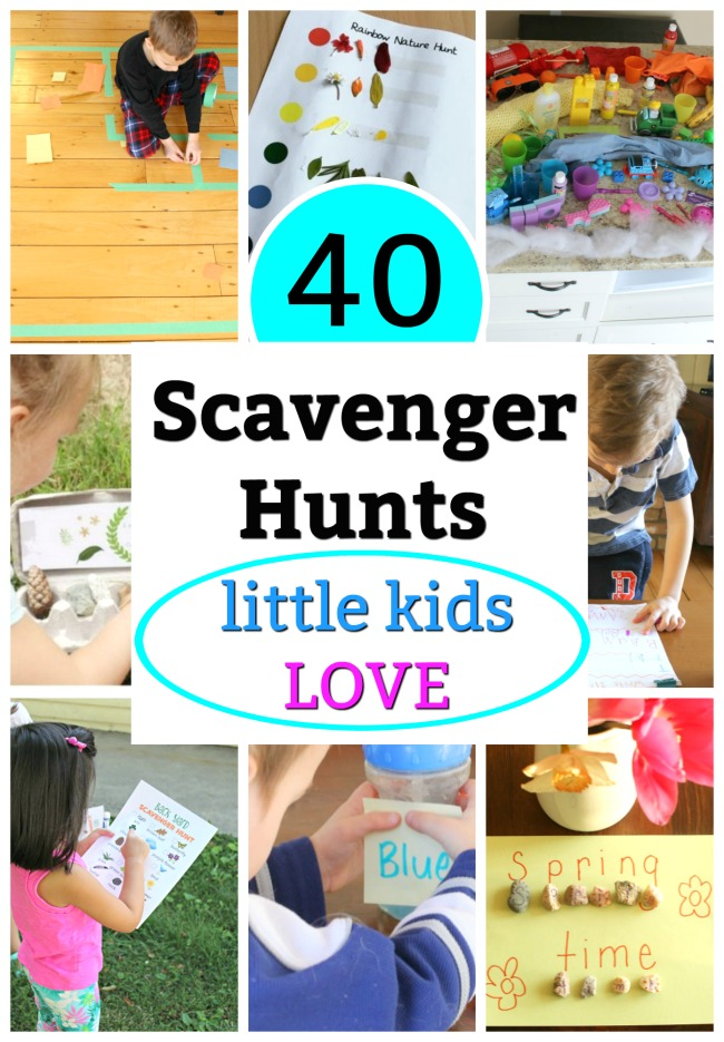 A college sample of our scavenger hunt ideas for indoors and outdoors.