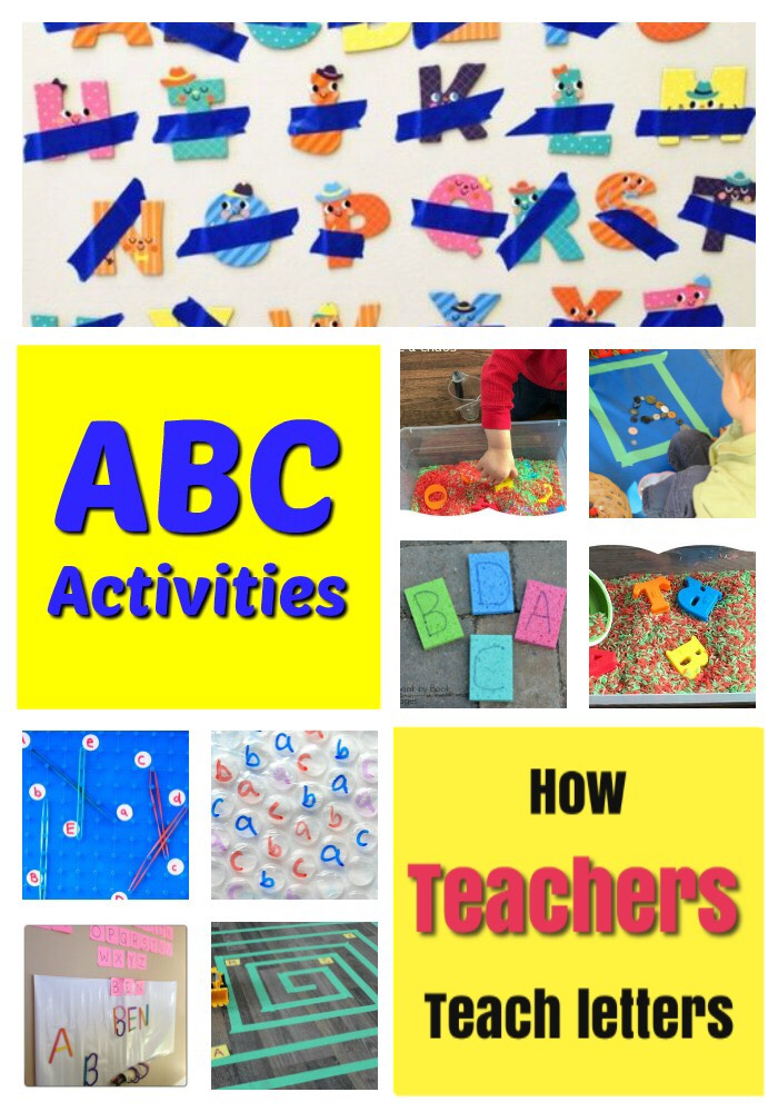 These fun, hands on alphabet activities are right from a Kindergarten Teacher! Such fun letter learning activities and games for preschoolers. #howweelearn #alphabetactivities #abc #letters #preschool