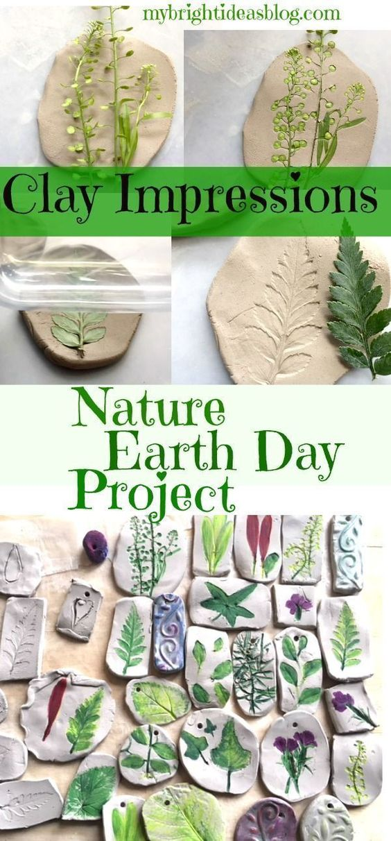 These adorable clay nature imprints can be used for educational games or be made as a keepsake after a family trip. Here we have an epic list of creative crafts and amazing process art for kids of all ages using a variety of materials and techniques! #artsandcrafts #artsandcraftsforkids #craftsforkids #kidscrafts
