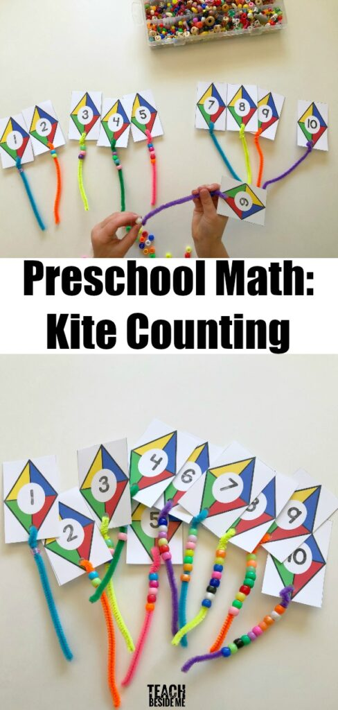 This fabulous one-to-one correspondence activity can easily turn into a craft! Here you will find more play-based number activities for preschoolers to keep them practicing their counting, number recognition and one-to-one correspondence. #howweelearn #numbers #numbersense #numeracy #counting