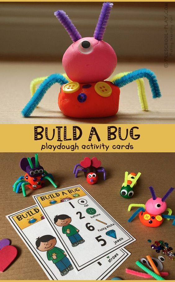 Get creative with numbers and challenge your preschooler to build-a-bug with a certain number of materials. Here you will find more play-based number activities for preschoolers to keep them practicing their counting, number recognition and one-to-one correspondence. #howweelearn #numbers #numbersense #numeracy #counting