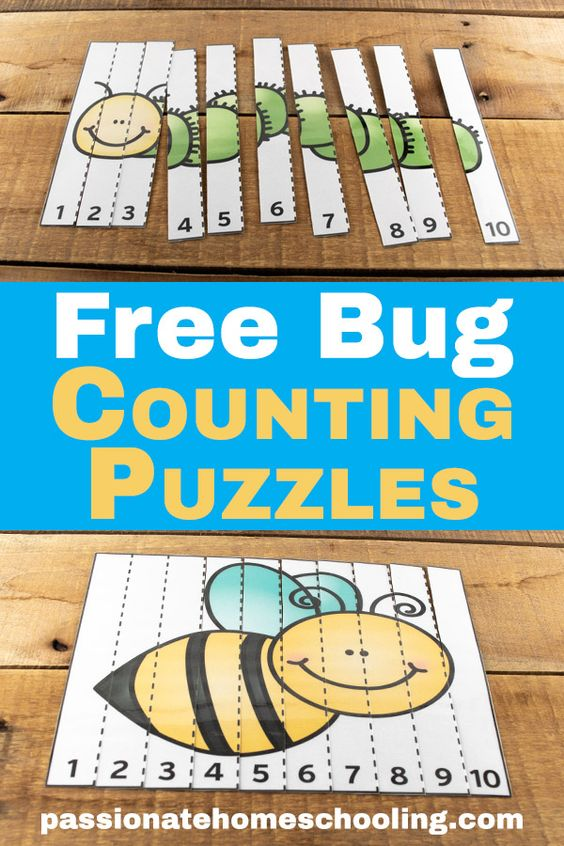 These adorable puzzles help kids solidify their sense of number order. Here you will find more play-based number activities for preschoolers to keep them practicing their counting, number recognition and one-to-one correspondence. #howweelearn #numbers #numbersense #numeracy #counting